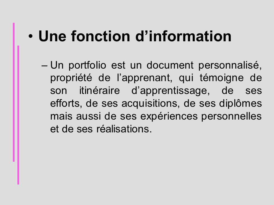 Une fonction d'information