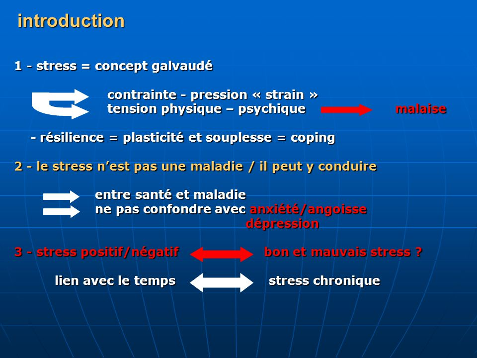 introduction 1 - stress = concept galvaudé