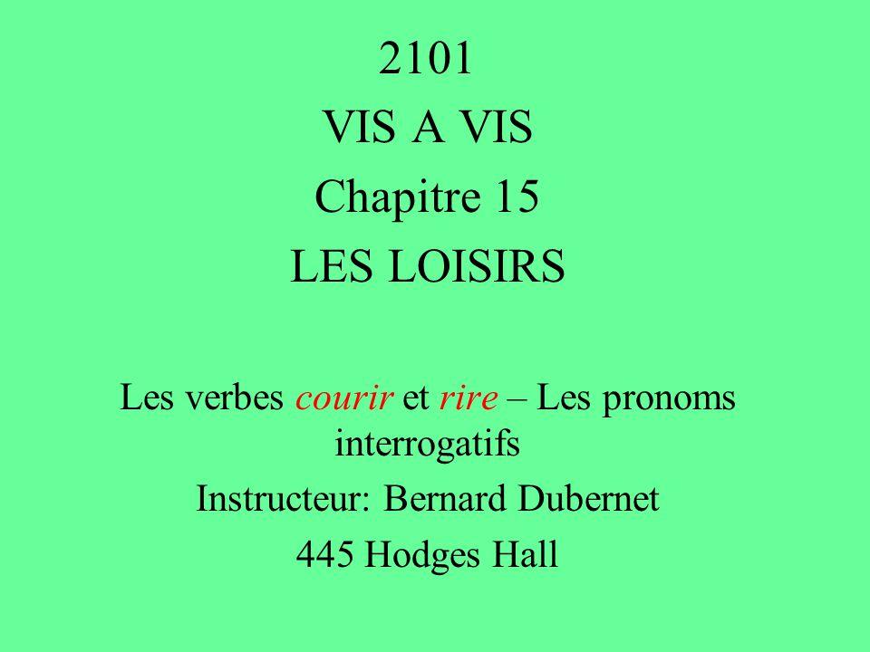2101 VIS A VIS Chapitre 15 LES LOISIRS