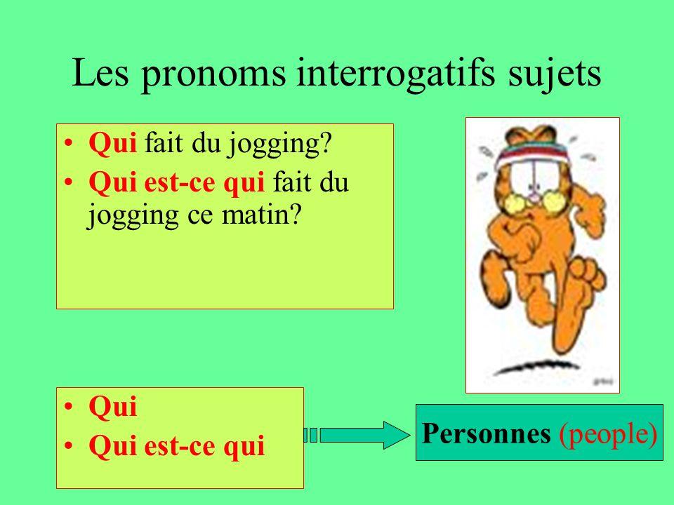Les pronoms interrogatifs sujets