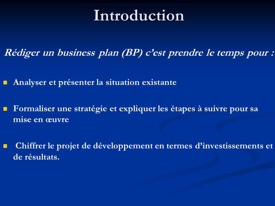Rédiger un business plan (BP) c'est prendre le temps pour :