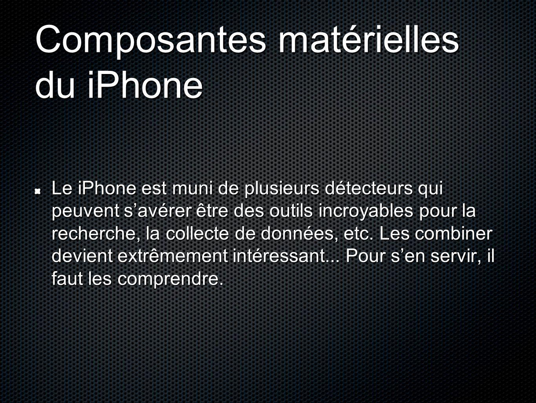 Composantes matérielles du iPhone