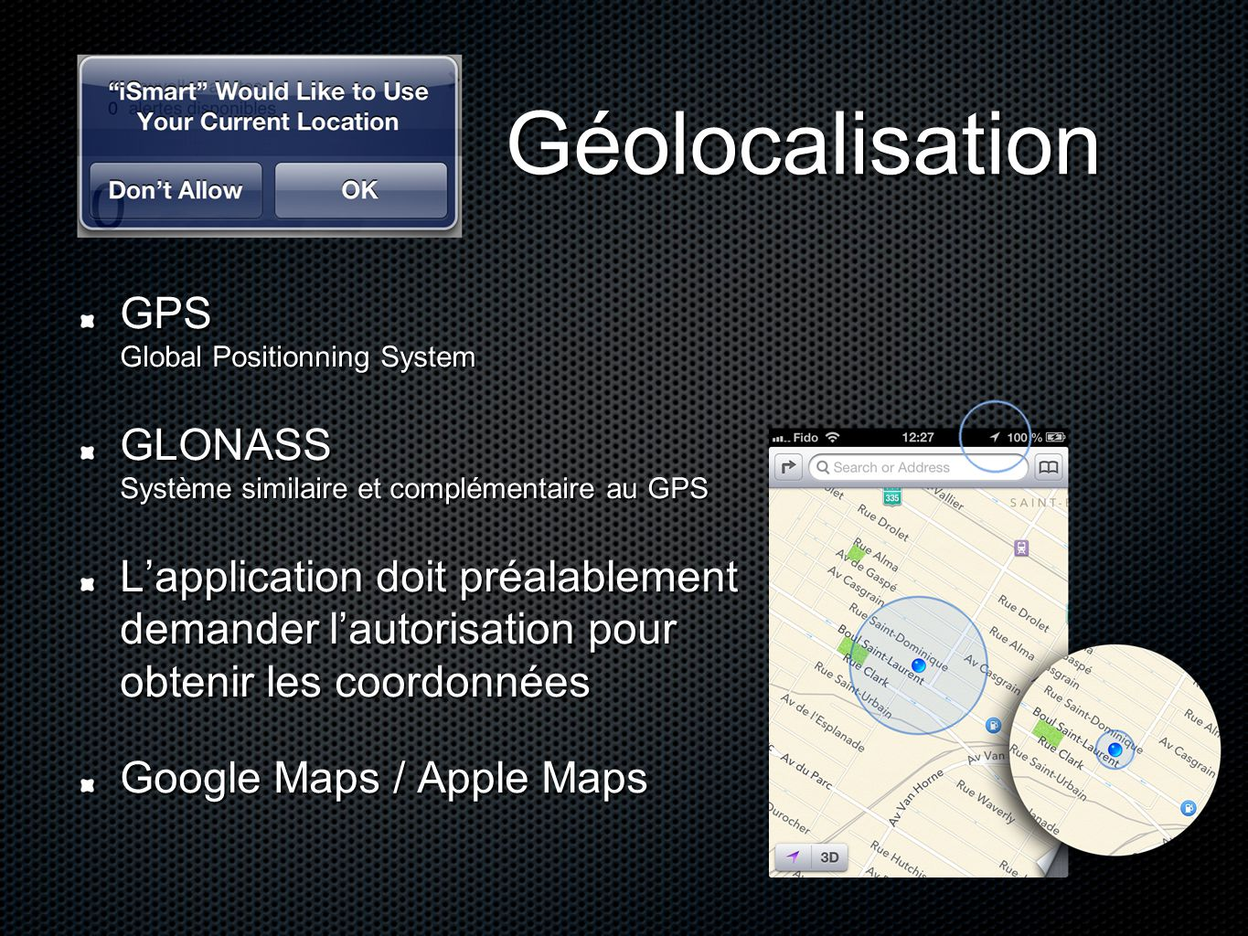 Géolocalisation GPS Global Positionning System