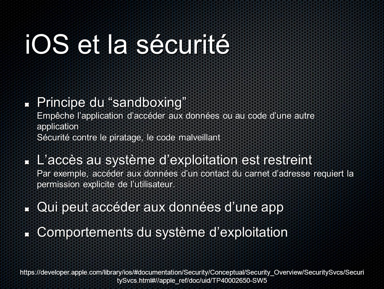 iOS et la sécurité