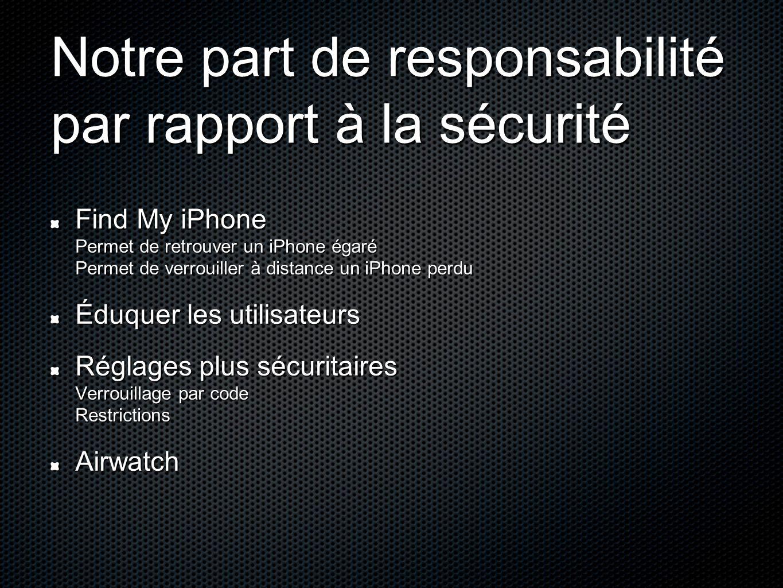 Notre part de responsabilité par rapport à la sécurité