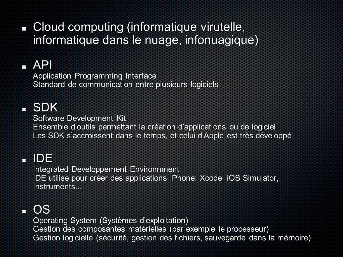 Cloud computing (informatique virutelle, informatique dans le nuage, infonuagique)