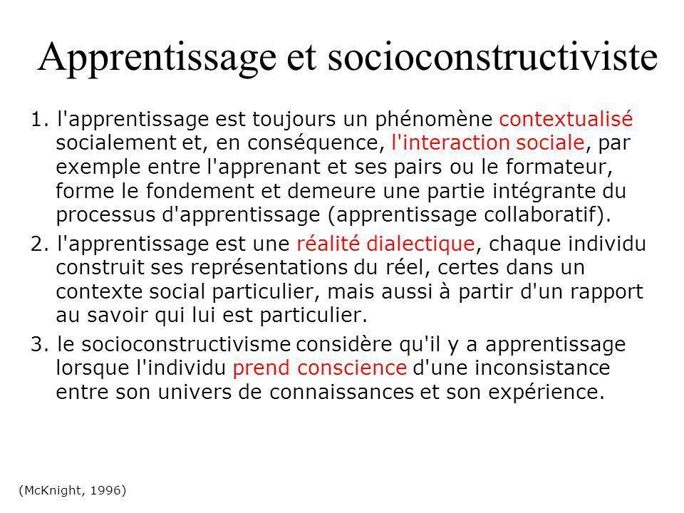 Apprentissage et socioconstructiviste