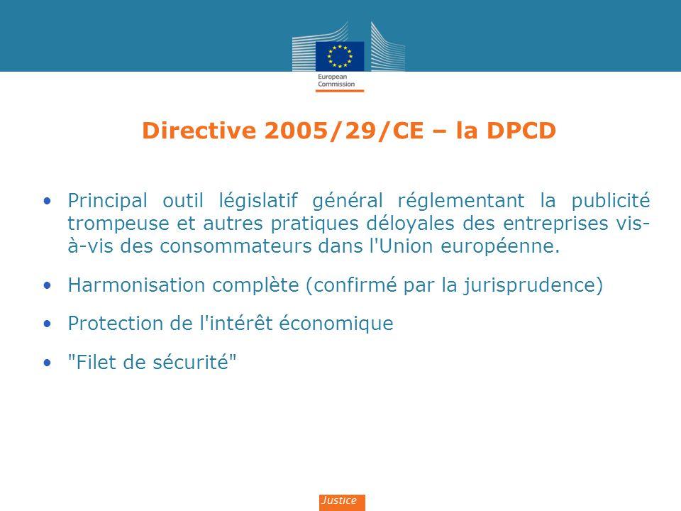 Directive 2005/29/CE – la DPCD