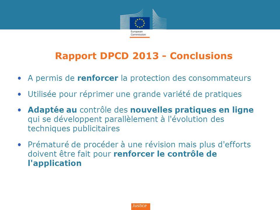 Rapport DPCD 2013 - Conclusions