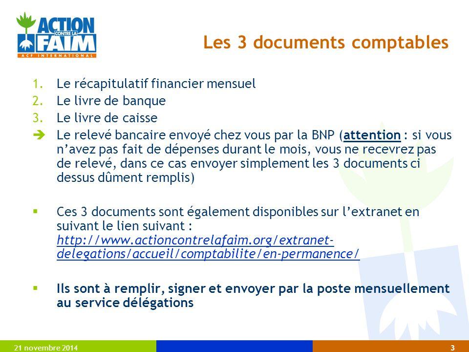 Les 3 documents comptables