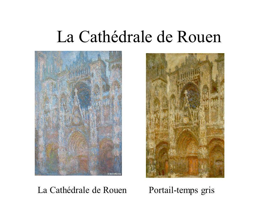 La Cathédrale de Rouen La Cathédrale de Rouen Portail-temps gris