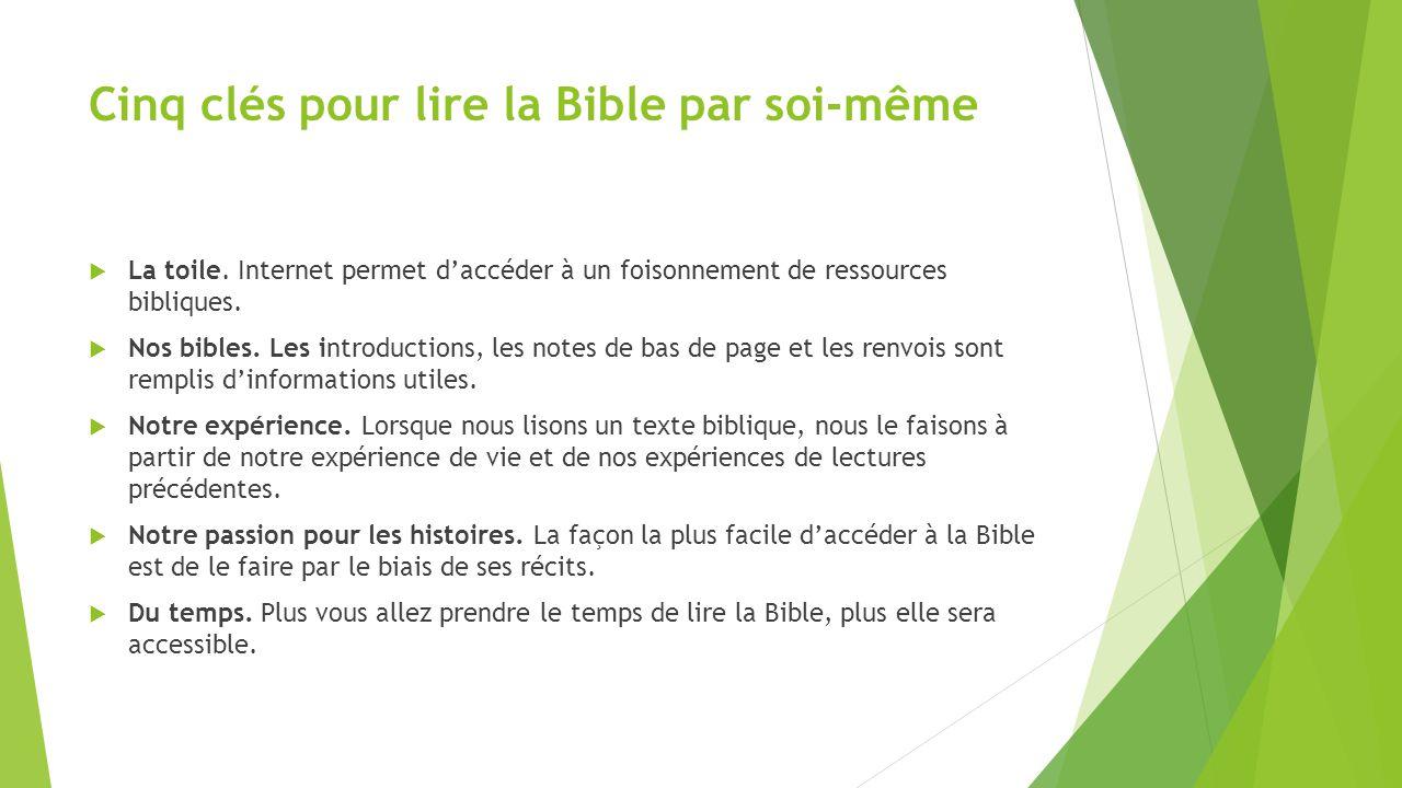 Cinq clés pour lire la Bible par soi-même