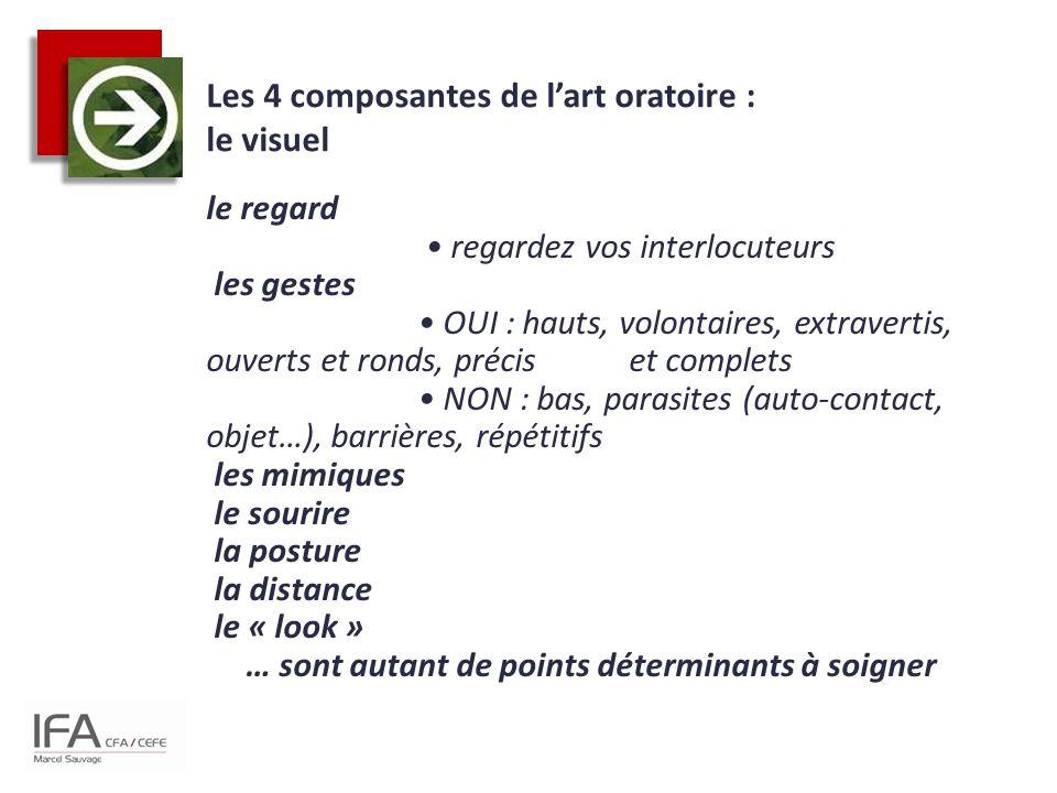 Les 4 composantes de l'art oratoire : le visuel