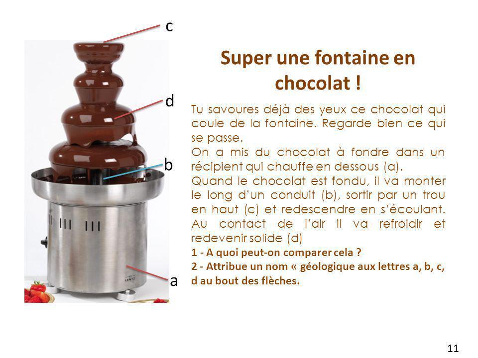 Super une fontaine en chocolat !