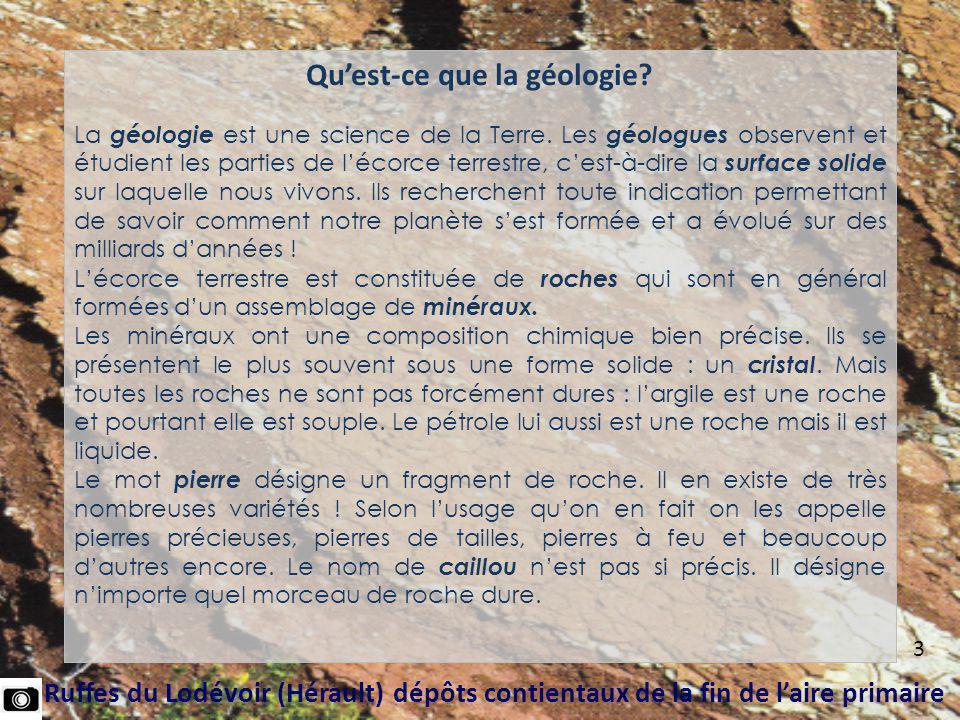 Qu'est-ce que la géologie