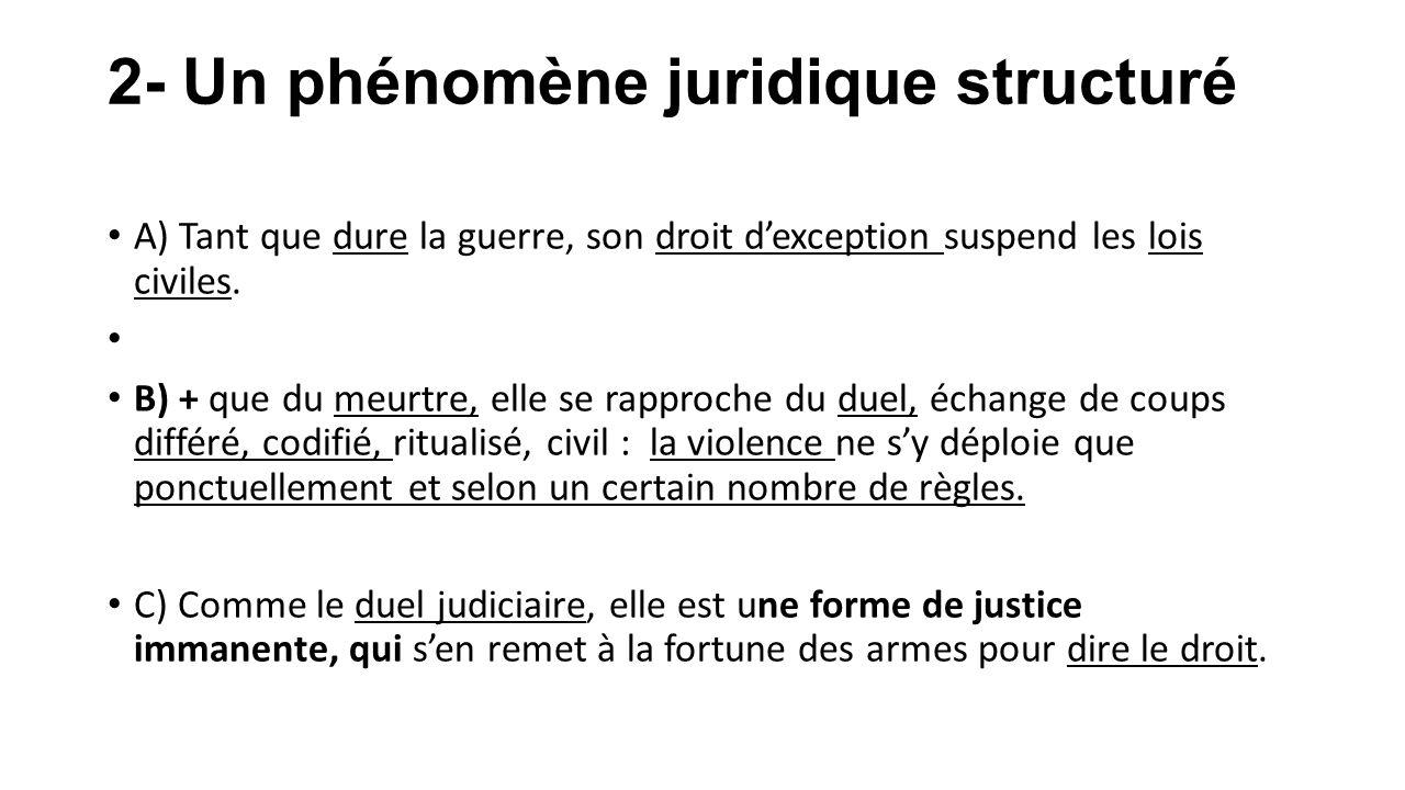 2- Un phénomène juridique structuré