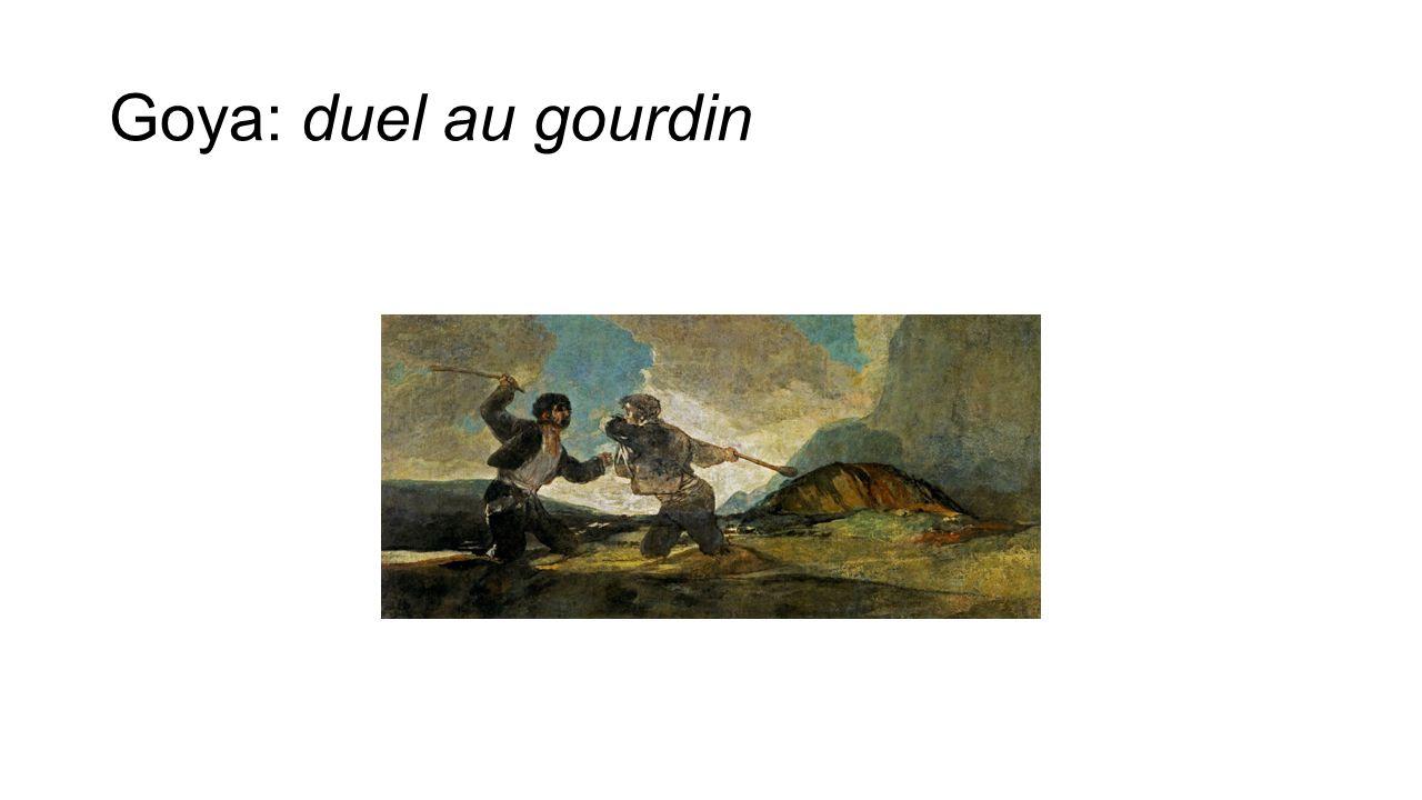 Goya: duel au gourdin