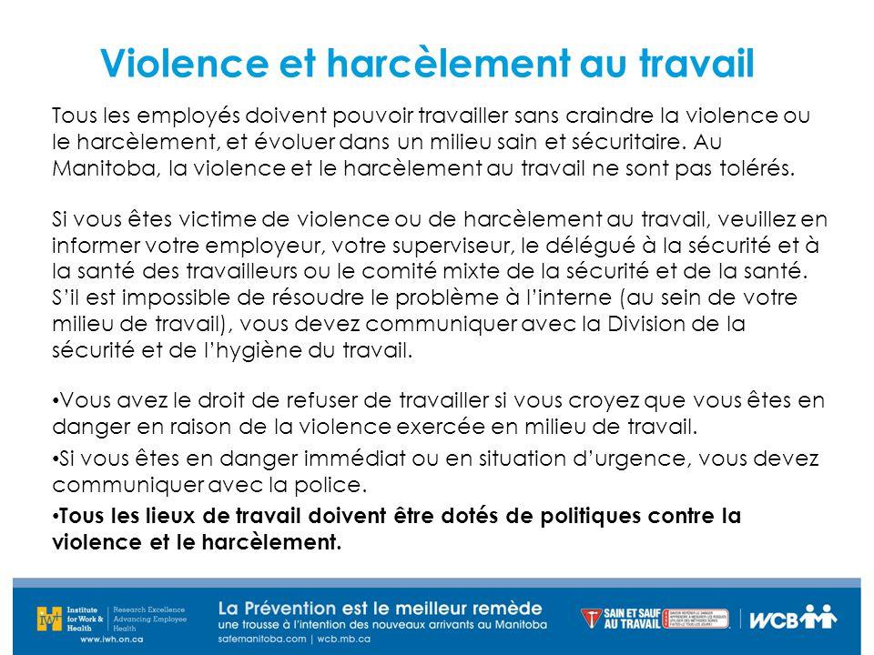 Violence et harcèlement au travail