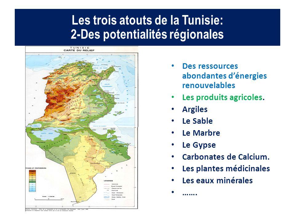 Les trois atouts de la Tunisie: 2-Des potentialités régionales