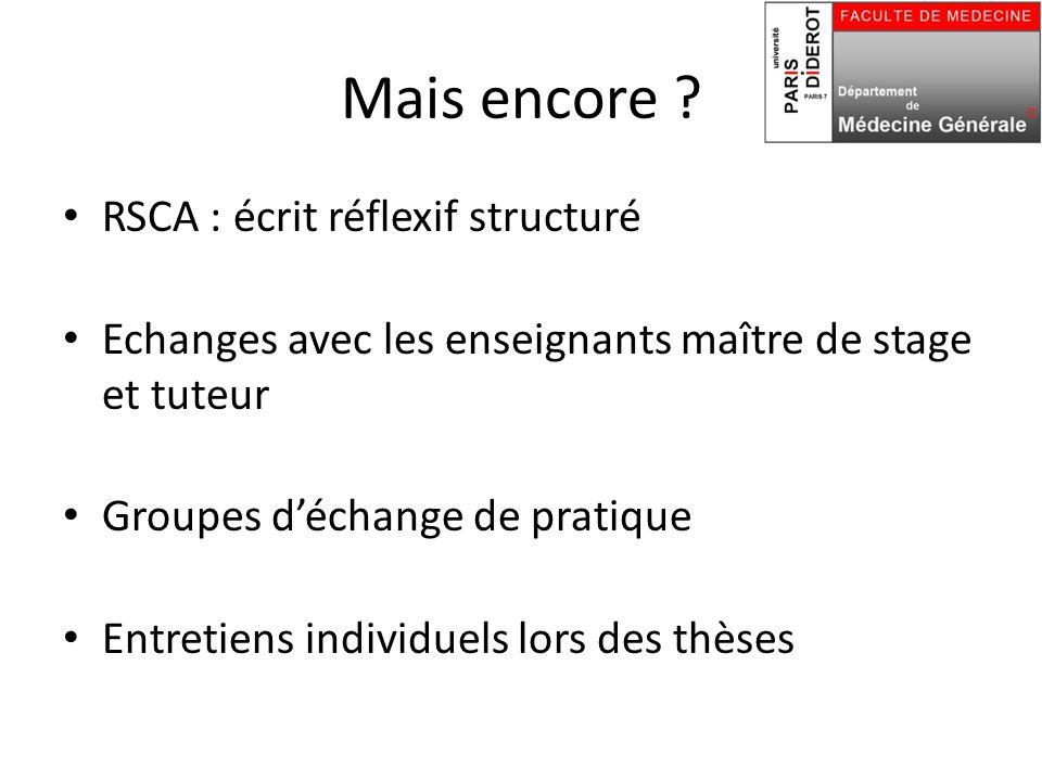 Mais encore RSCA : écrit réflexif structuré