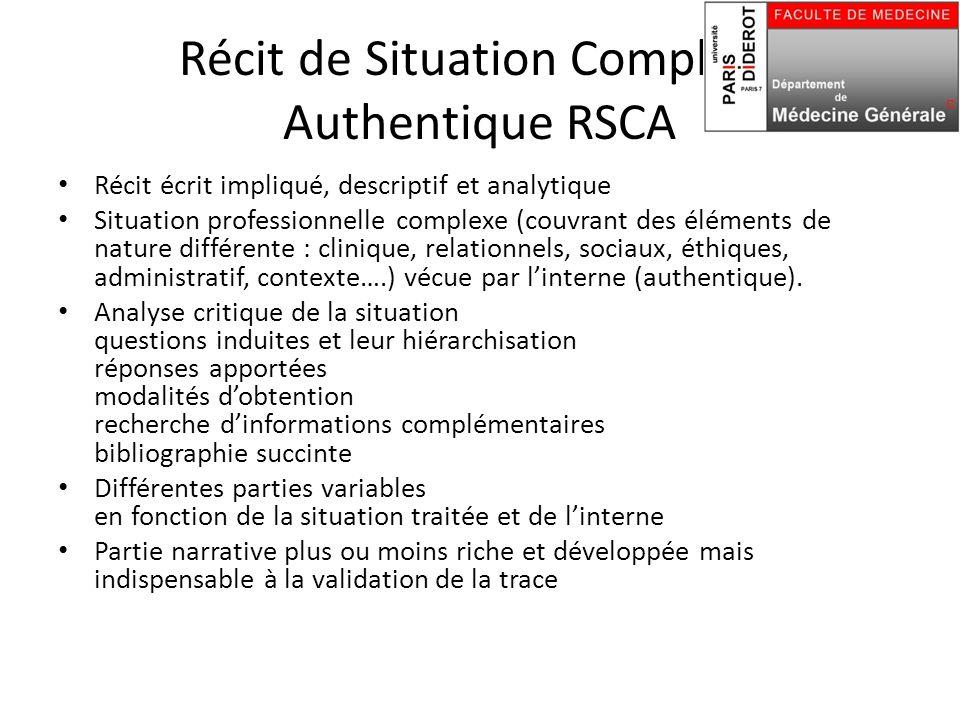 Récit de Situation Complexe Authentique RSCA