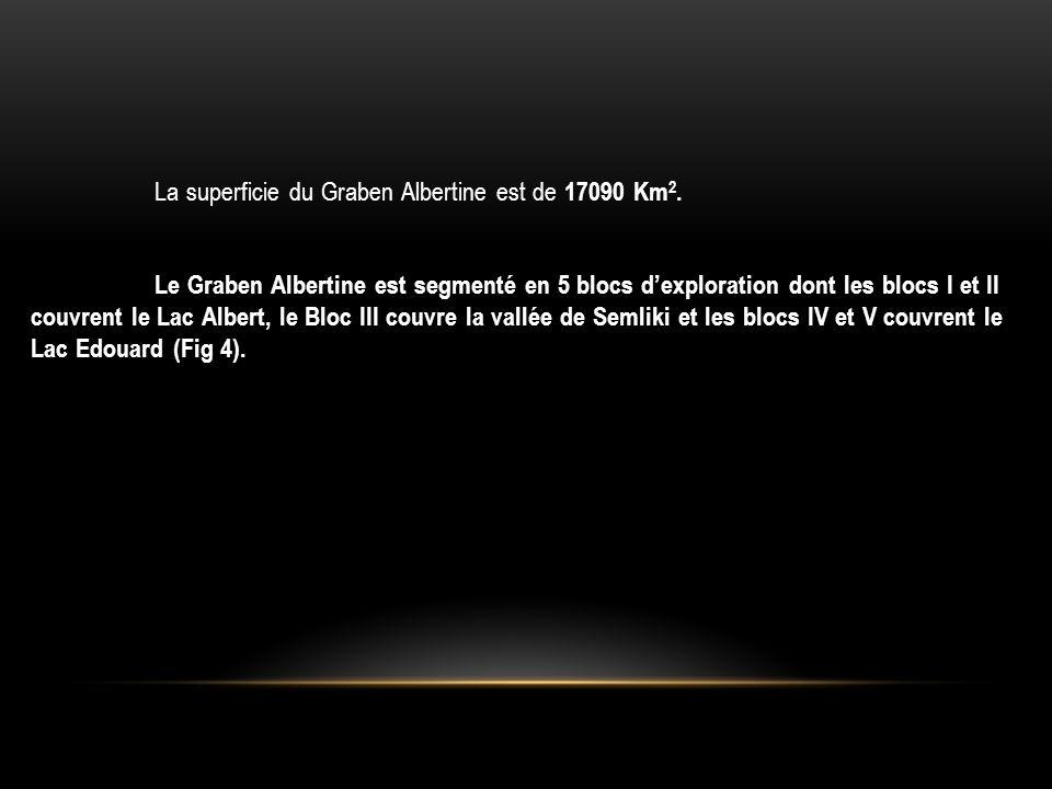 La superficie du Graben Albertine est de 17090 Km2