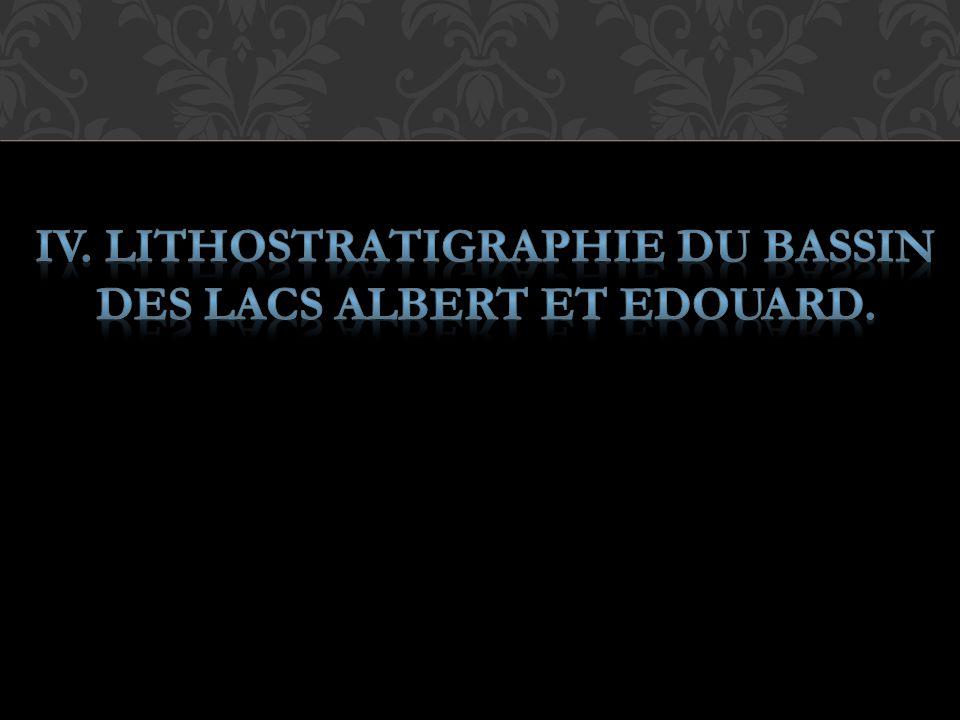 IV. LITHOSTRATIGRAPHIE DU BASSIN DES LACS ALBERT ET EDOUARD.
