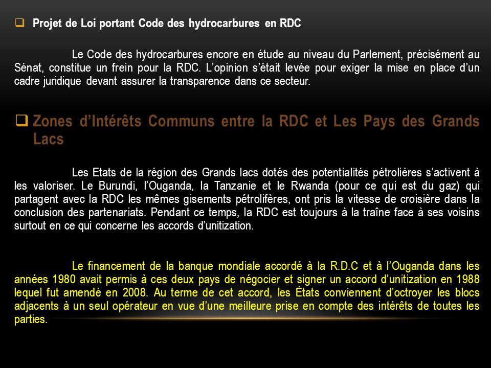 Zones d'Intérêts Communs entre la RDC et Les Pays des Grands Lacs