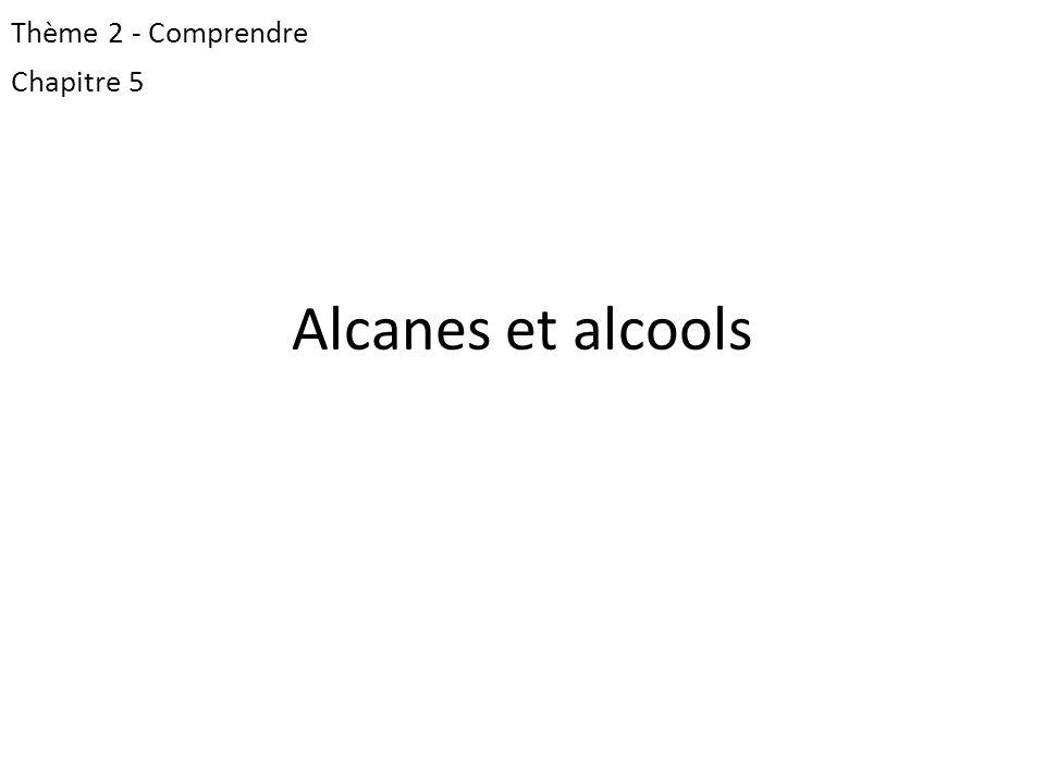 Thème 2 - Comprendre Chapitre 5 Alcanes et alcools