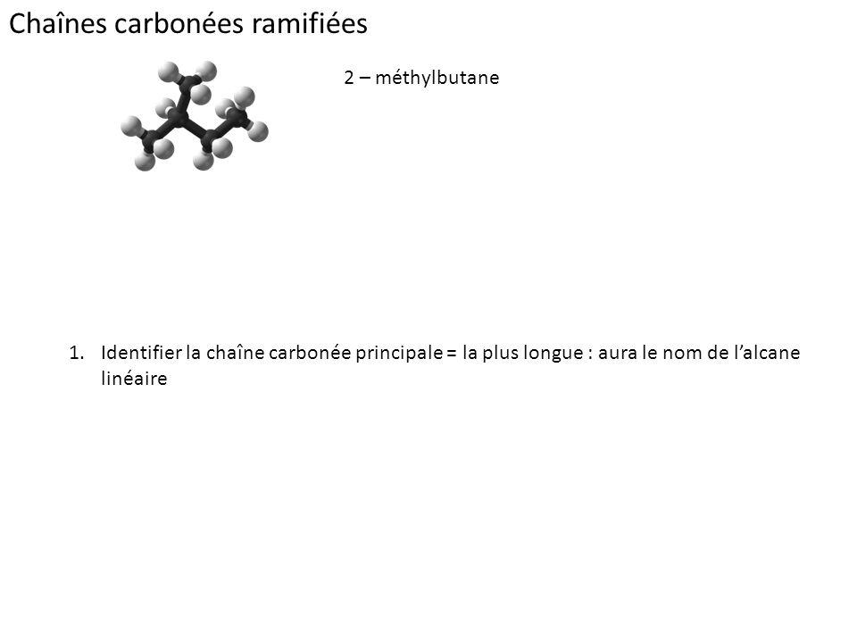 Chaînes carbonées ramifiées