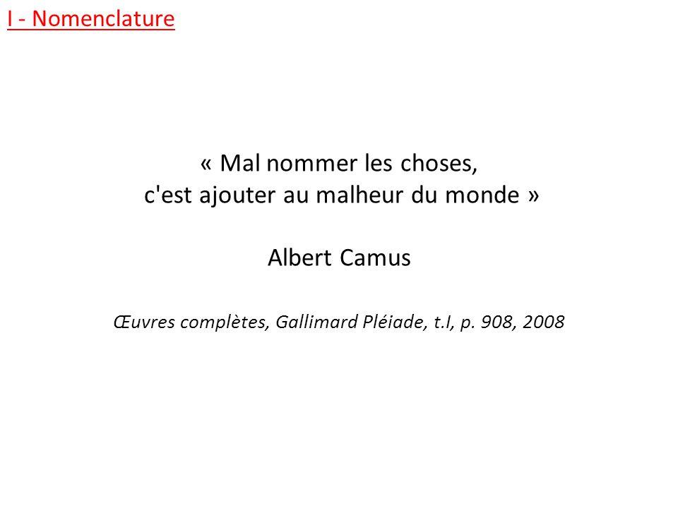 c est ajouter au malheur du monde » Albert Camus