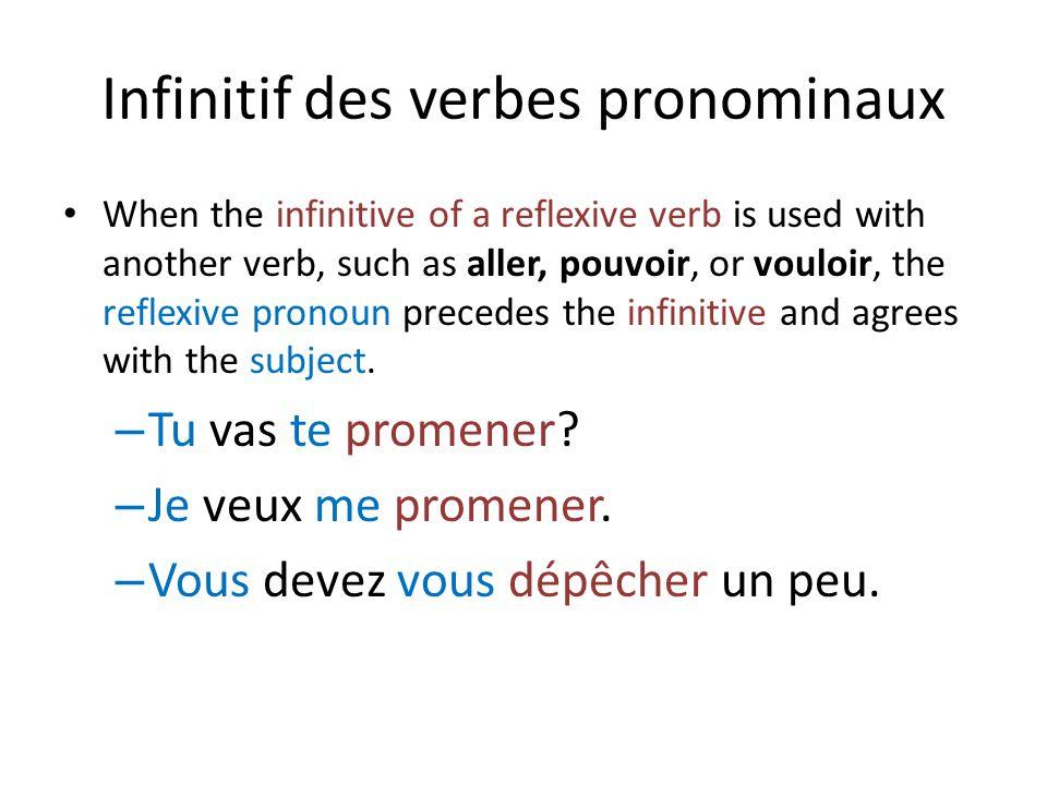 Infinitif des verbes pronominaux