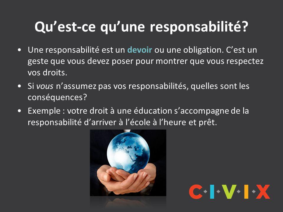 Qu'est-ce qu'une responsabilité