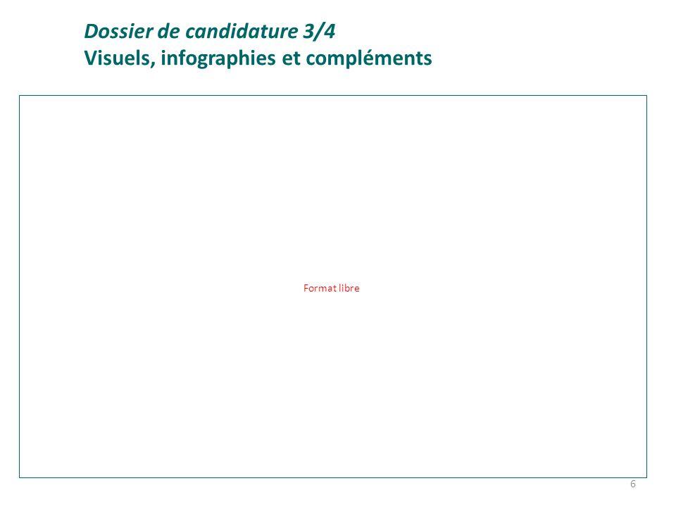 Dossier de candidature 3/4 Visuels, infographies et compléments