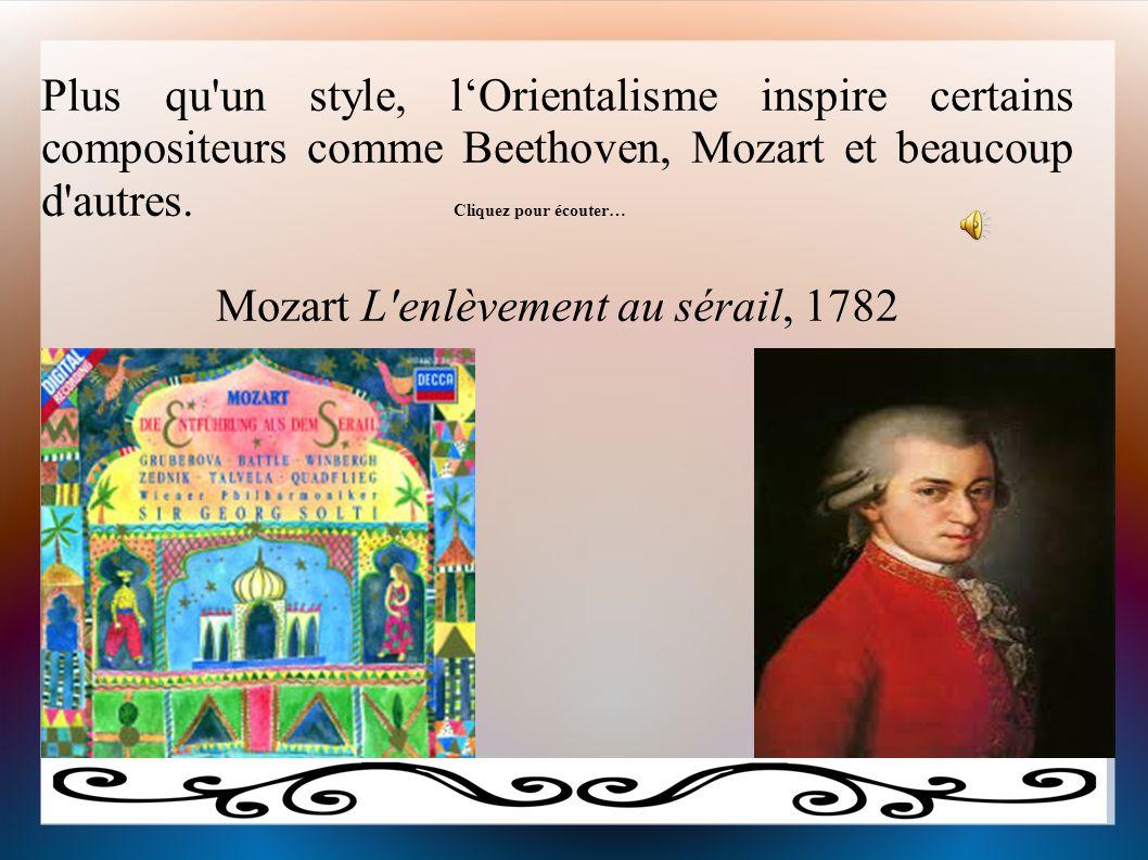 Mozart L enlèvement au sérail, 1782