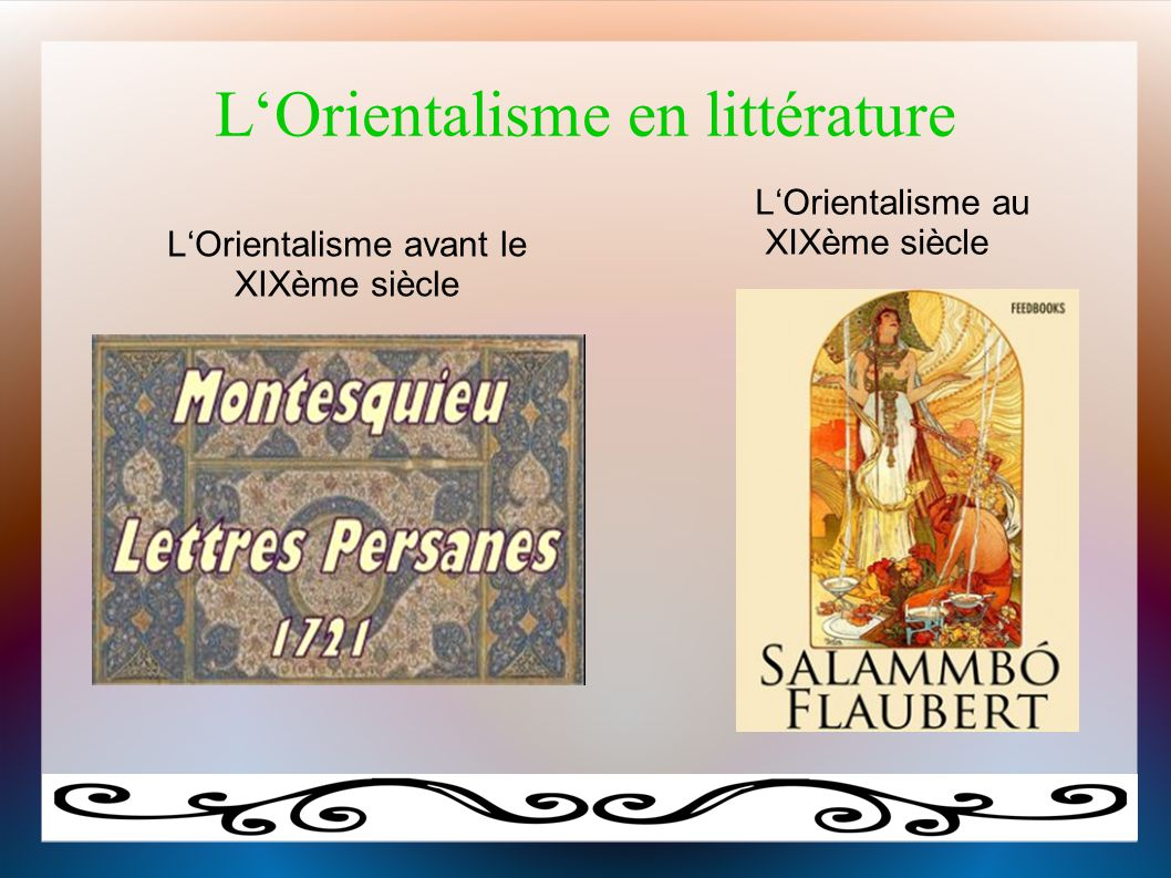 L'Orientalisme en littérature