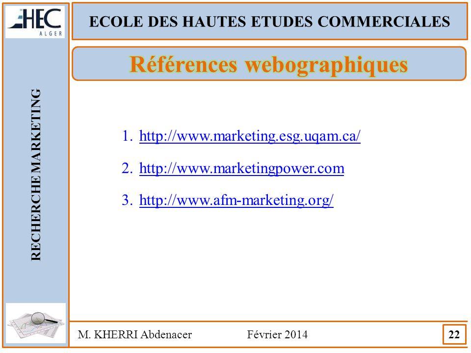 ECOLE DES HAUTES ETUDES COMMERCIALES Références webographiques