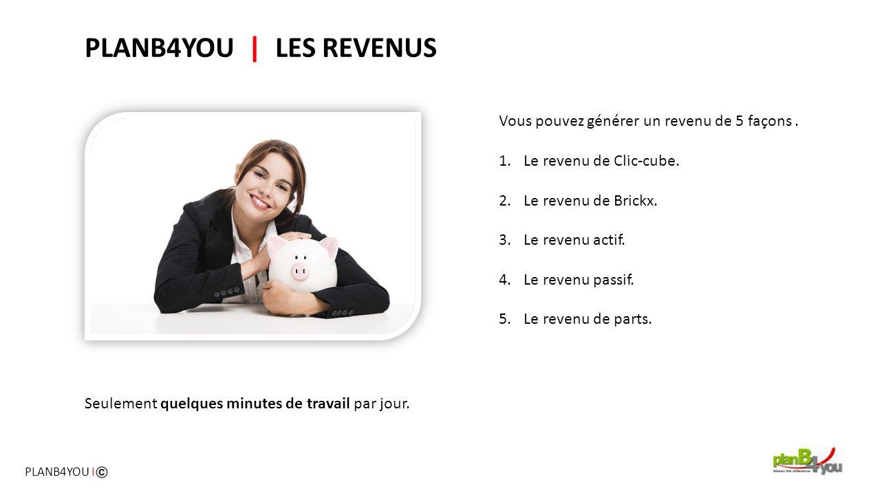PLANB4YOU | LES REVENUS Vous pouvez générer un revenu de 5 façons .