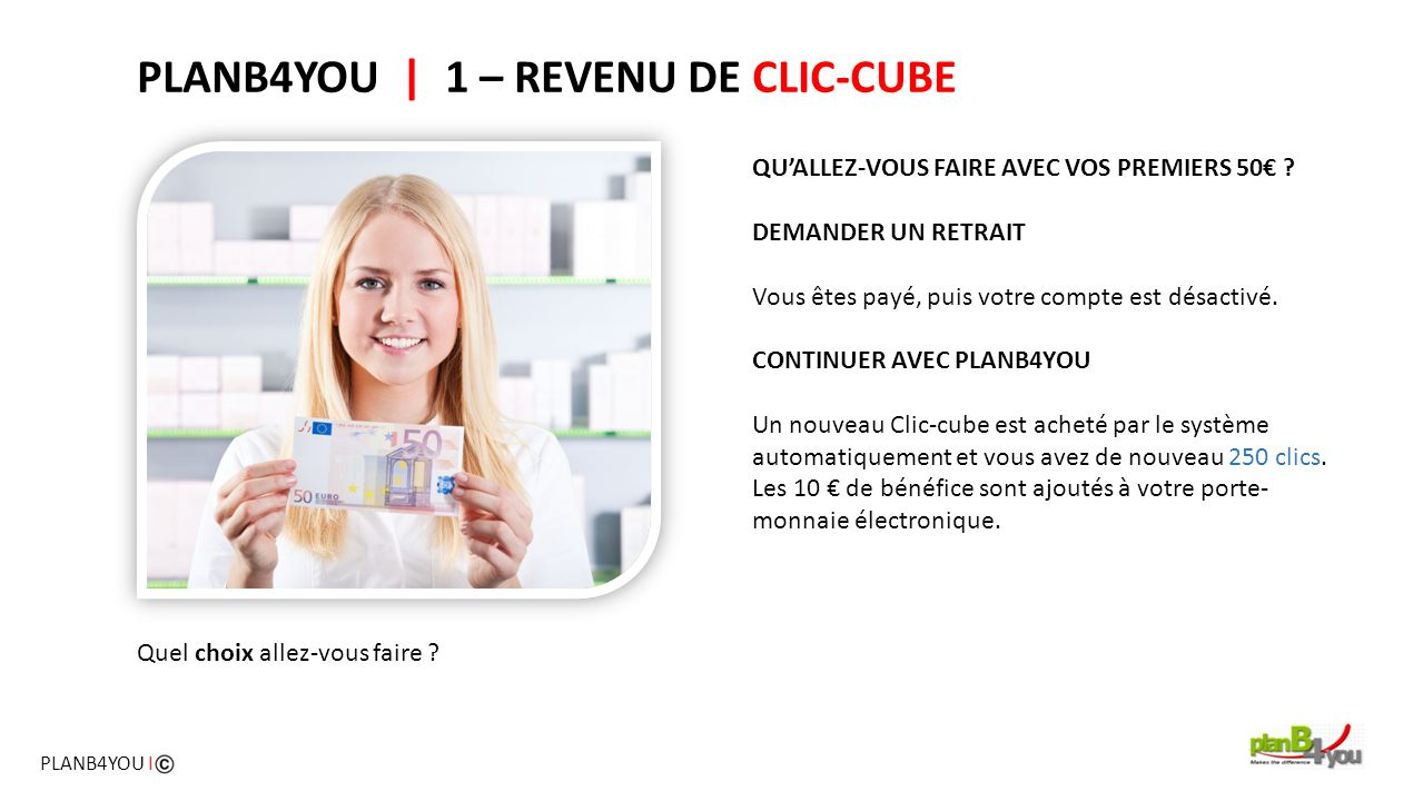 PLANB4YOU | 1 – REVENU DE CLIC-CUBE