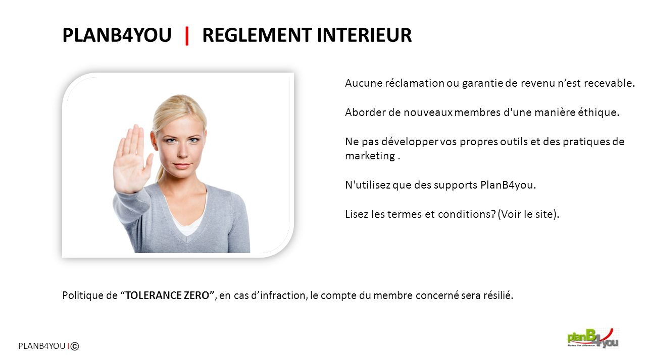 PLANB4YOU | REGLEMENT INTERIEUR