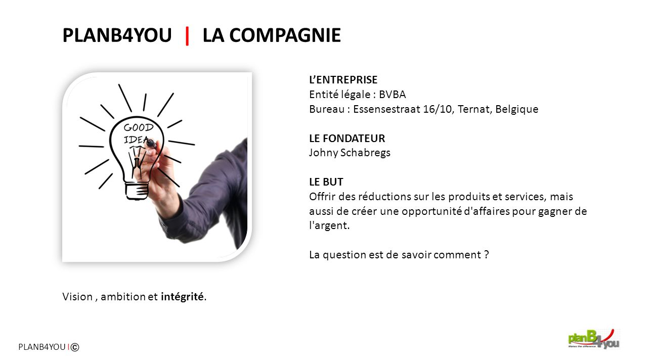 PLANB4YOU | LA COMPAGNIE