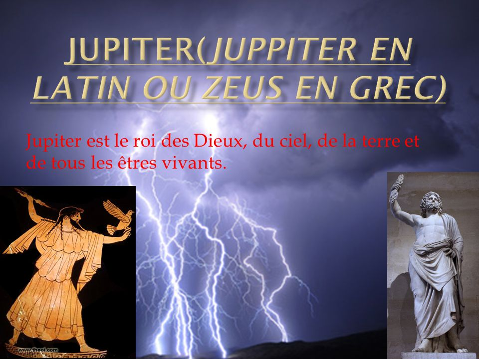 JUPITER(JUPPITER EN LATIN ou Zeus en grec)