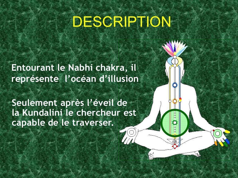 DESCRIPTION Entourant le Nabhi chakra, il représente l'océan d'illusion.
