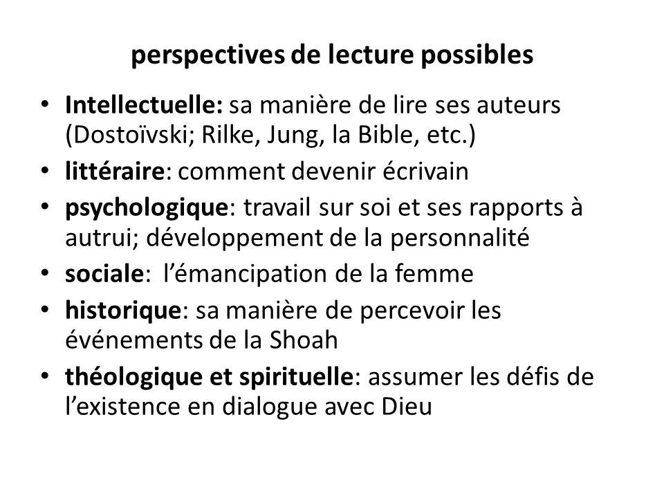 perspectives de lecture possibles