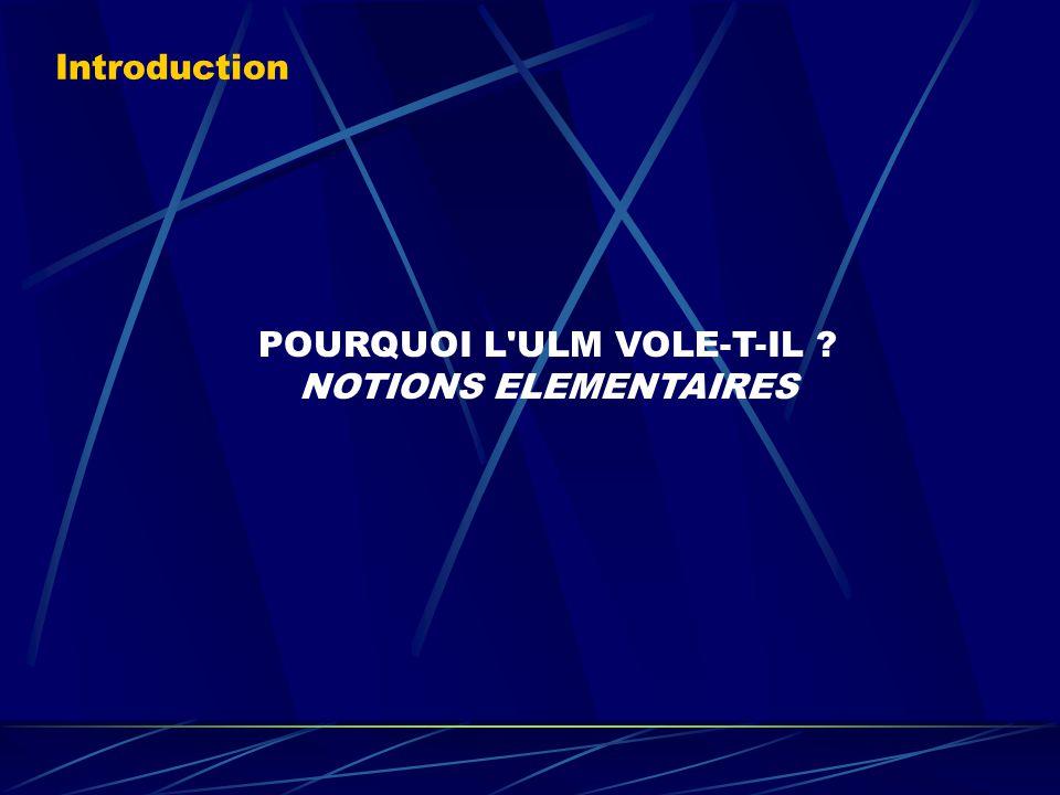 POURQUOI L ULM VOLE-T-IL NOTIONS ELEMENTAIRES