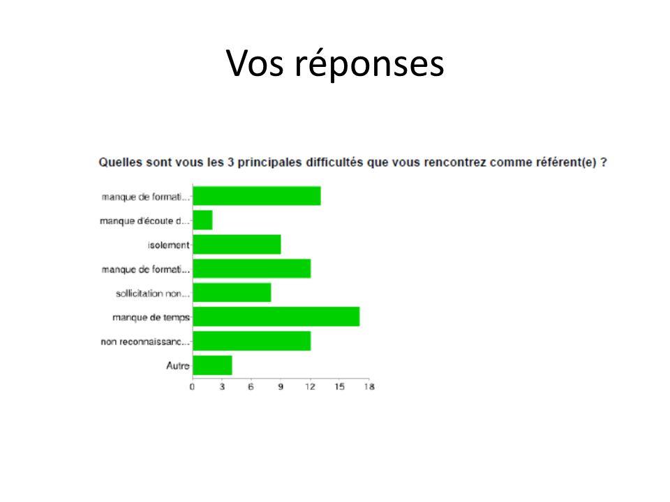 Vos réponses manque de formation théorique 13 17%