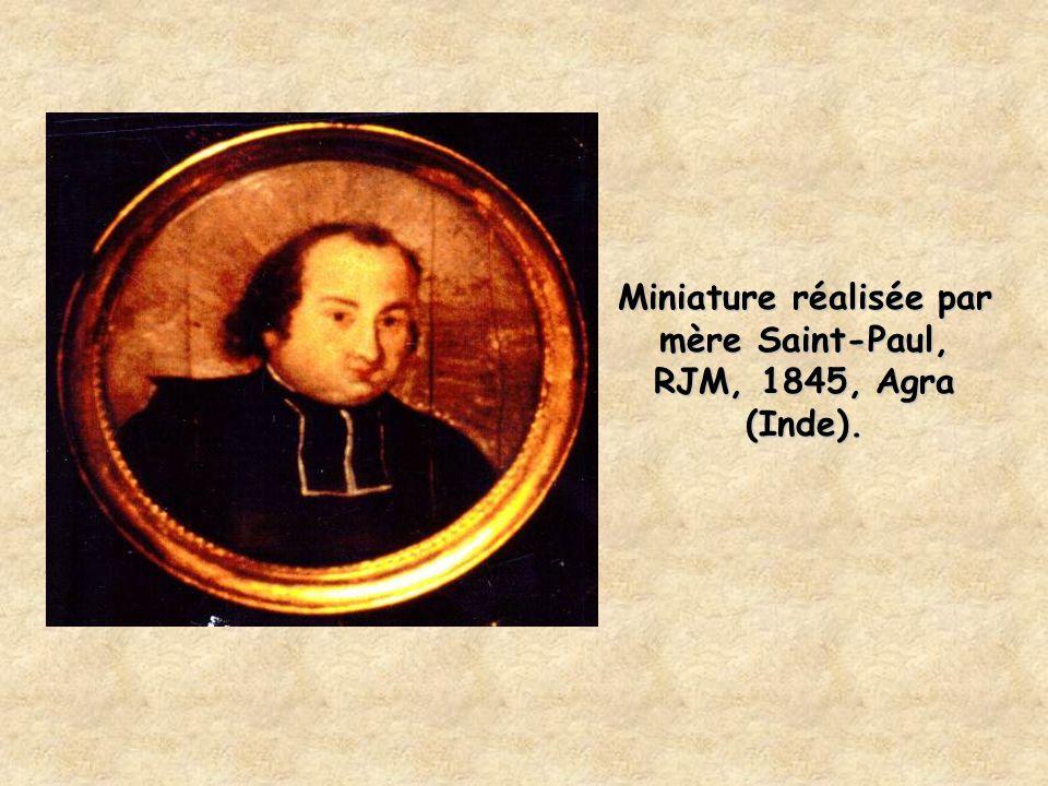 Miniature réalisée par mère Saint-Paul, RJM, 1845, Agra (Inde).