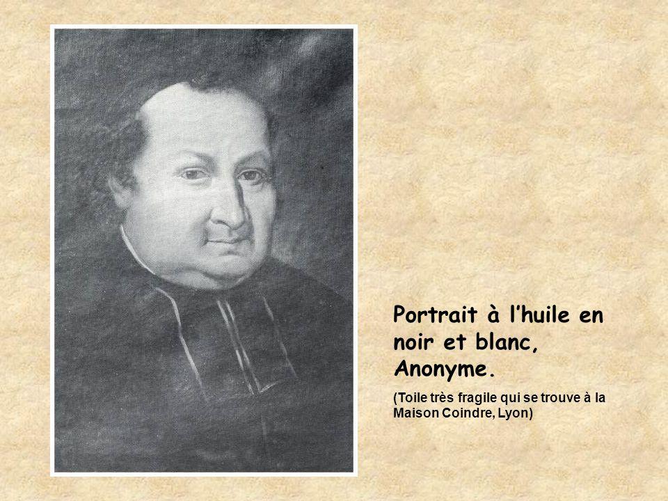 Portrait à l'huile en noir et blanc, Anonyme.