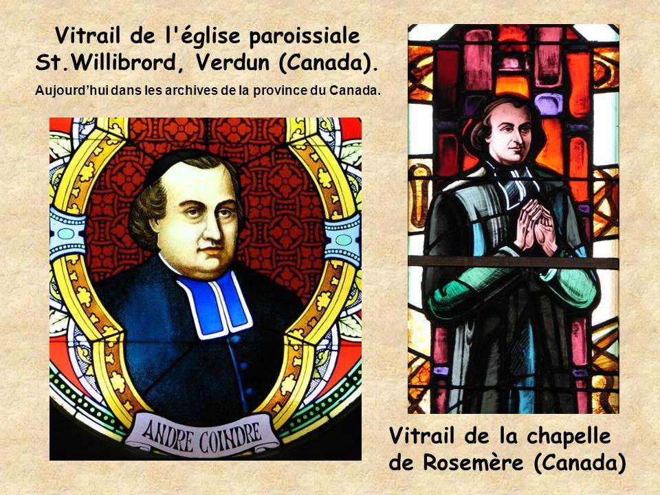Vitrail de l église paroissiale St.Willibrord, Verdun (Canada).