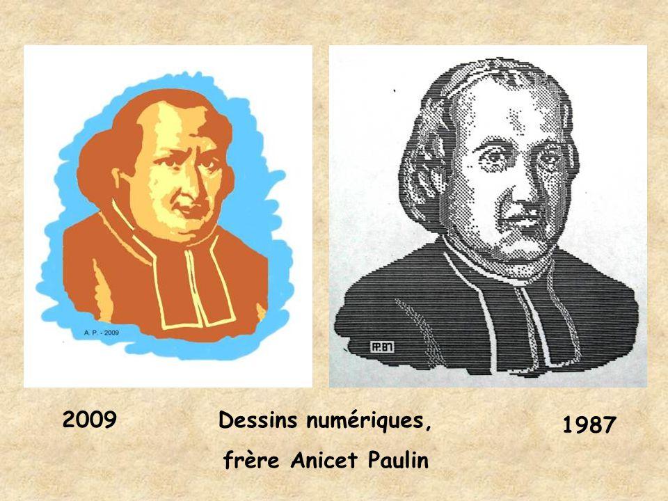 2009 Dessins numériques, frère Anicet Paulin 1987